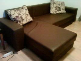 Schicke Couch in braun