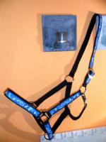 Foto 2 Schickes Halfter in Blau mit Swarovski Steinen Größe WB