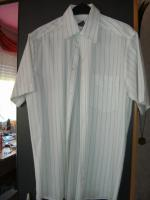Schickes gestreiftes kurz�rmiges Hemd in der Gr��e M