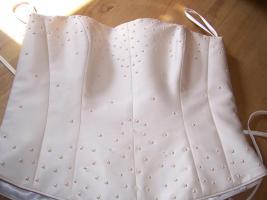 Schickes , elegantes Brautkleid gr.38Champagnerfarbe , 2teilig, Schulterfrei