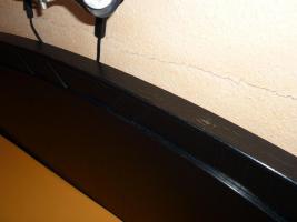 Foto 5 Schickes, schwarzes Doppelbett mit Nachtkästen – Holz - Maserung, Liegefläche 200 x 200 cm