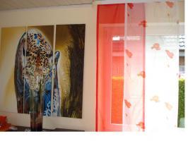 Schiebe Vorhänge 4St. 60x245 cm.