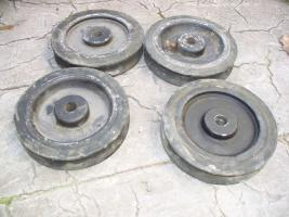 Schienen- Gummi R�der f�r Kamera Schienenwagen, gebraucht, 23cm Durchmesser