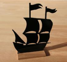 Schiff Figur Dekoration Acrylglas