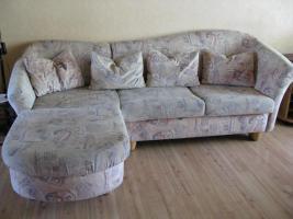 Schlafcouch-Federkern –Ottomane- mit Sessel