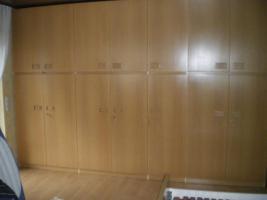 Schlafzimmer (Bett, Kleiderschrank, Kommode, Spiegel) hell Eiche funiert