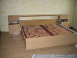Foto 2 Schlafzimmer (Bett, Kleiderschrank, Kommode, Spiegel) hell Eiche funiert
