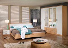 Foto 2 Schlafzimmer komplett Baggio Set 4-tlg in Anthrazit.