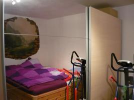 Schlafzimmerschrank mit 2 Schwebet�re mit Spiegel, wie neu
