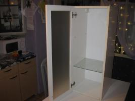 Schlichter Badezimmerh�ngeschrank mit Glast�r ( neuwertig )