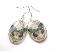 Schmetterlings Cameo Ohrringe