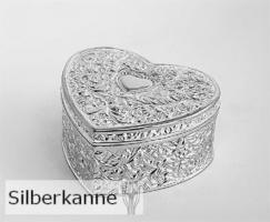 Schmuckdose Filigran B 7cm, versilbert / SILBER plated