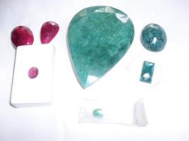 Schmucksteine, Sapihre- Smaragde- Rubine, zum Schnäppchenpreis: