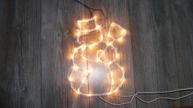 Schneemann- Lichterkette