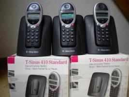 Schnurlos Telefon 4 x T-Sinus 410 S bzw. K + div. Zubehör (nur für Bastler) EUR 15