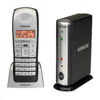 Schnurlos-Telefon AUDIOLINE ''EURO 300 S'' DECT + schnurloses Skype/VoIP-Telefon