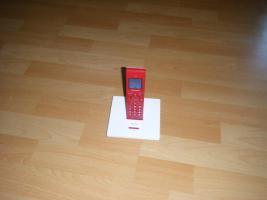 Schnurloses Festnetztelefon super Design Grundig illion lite Red