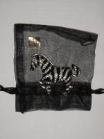 Schöne Anstecknadel - Brosche - Zebra