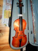 Schöne Französische 4x4 Geige aus Meisterwerkstadt 19 Jh.