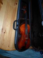 Schöne Französische 4x4 Geige aus Meisterwerkstadt 19 Jh