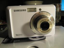 Schöne Samsung Digital Camera 10,2 megapixel in Weiß.
