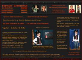 Webseite Kinderzauberkurs ind der Kinderzauberschule in NRW