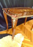 Foto 2 Schöne dekorative Messing eingelegten Tisch