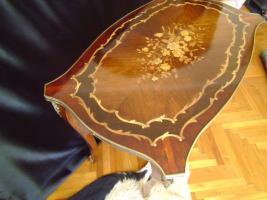 Foto 3 Schöne dekorative Messing eingelegten Tisch