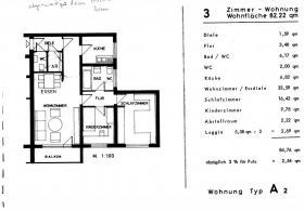 Schöne ruhige 3 Zimmer-Wohnung 84 qm in Königsbronn zu verkaufen.