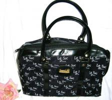 Schöne tiefblaue Designer Damen-Handtasche Marke ''Le sac Paris''