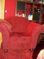 Foto 4 Schöne & gr. Sofagarnitur im roten Kolonialstil!Günstig & sehr gut erhalten!