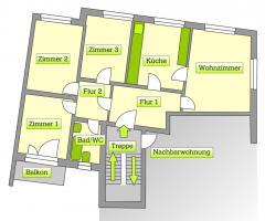 Schöne, helle 4-Zimmer-Küche-Bad, Mannheim-Wohlgelegen