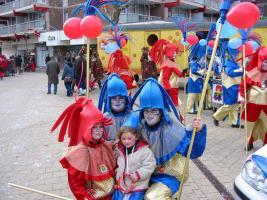 Foto 2 Schönen Blauen mit Golden Clown