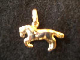 Schöner Pferde-Anhänger aus 375er Gelbgold, NEU