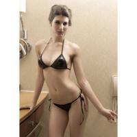 Schöner Wetlook Bikini - Diversen - Black - Einheitsgröße S-L - OVP