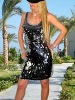Schönes Damenkleid Pailettenkleid