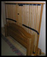 Foto 2 Schönes Kiefer gelaugtes Bett 1,40 x 2,00m