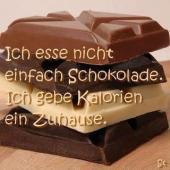 Schokolade, Eis und Kuchen und SCHLANK FÜR IMMER