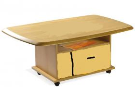 Foto 4 Schränke, Bettgestell, Vitrine, Regale, Wohnwand, Sofa, Tische, Küchenschränke