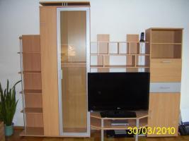 Schrankwand / Anbauwand Wohnzimmer Buche