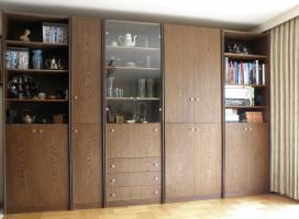 Foto 3 Schrankwand, Wenge, 350 x 230 x 44, 5-teilig, linkes Teil auch komplett als Regal aufbaubar