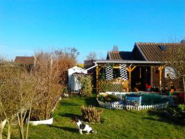 Schrebergarten mit schönem Gartenhaus abzugeben