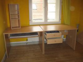 schreibtisch eckkombination in buche in g ttingen birke. Black Bedroom Furniture Sets. Home Design Ideas