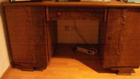 Schreibtisch, Eiche, Massivholz
