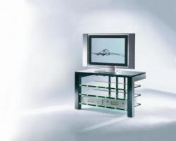 Schroers & Schroers TV - Rack Focus 110, schwarz pulverbeschichtet, Klarglas