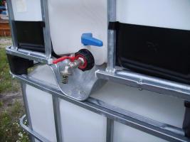 Foto 2 Schütz, Werit etc.! Auslaufhahn 3/4Zoll IBC Container Wassertanks Faß 500-1000ltr! für Schlauchanschuß!!