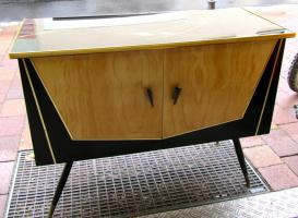 Schuhschrank, Kommode, 50er Jahren, Designklassiker, Rockabilly