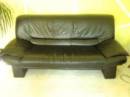 Foto 2 Schwarze Ledercouch - gut erhalten - zu verkaufen