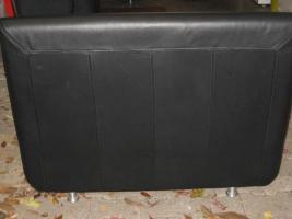 Foto 3 Schwarze moderne und zeitlose Leder Garnitur/ Sofa mit zwei Sessel
