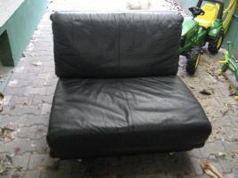 Foto 4 Schwarze moderne und zeitlose Leder Garnitur/ Sofa mit zwei Sessel